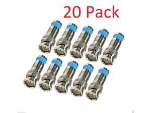 20 Pack Lot BNC Male Waterproof Compression Connector for RG6 Coax Cable CCTV