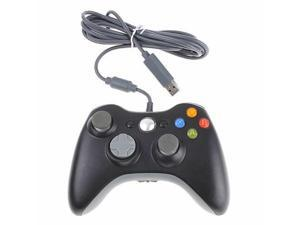 Black Wired USB Controller for Microsoft Xbox 360 Console