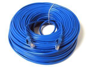 FastSun 50ft Cat5 Patch Cord Cable 500mhz Ethernet Internet Network LAN RJ45 UTP Blue
