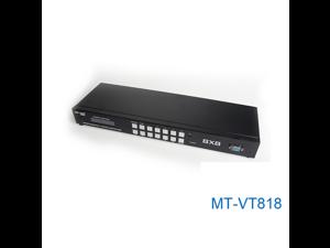 MT-VT818 8 Port 8 Roads VGA+Audio Input Any 8 Road of VGA+Audio Output VGA Matrix Switch