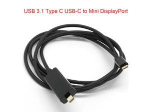 1.8m USB 3.1 Type C USB-C to Mini DisplayPort DP Cable Male USB Cable Adapter