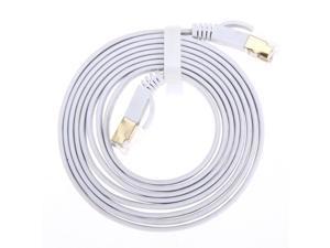3.3FT/6.6FT/10FT/15FT/33FT/49.2FT  CAT7 10 Gigabit 600Mhz Flat Ethernet Shielded (SSTP) Cable Modem Router RG45 LAN Network Cord