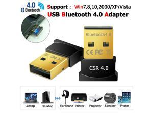 USB Bluetooth V4.0 3.0 Wireless Mini Adapter Dongle for PC Win 7 8