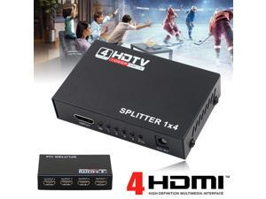 HDMI Splitter 1X4 4 Port Hub Repeater Amplifier 3D 1080p  1 in 4 out Switch 4 Port PIP Switcher Selector Hub Repeater Amplifier(HD 1080P)
