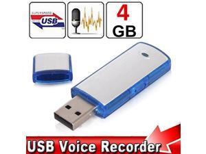 4GB Spy Mini USB Disk Flash Drive Digital Audio Voice Recorder Recording Storage 2 IN 1 Pen with Recording 80 hrs