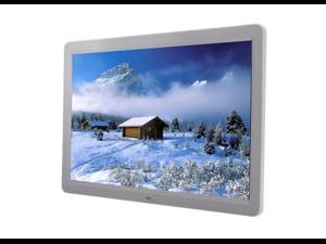 """Digital Photo Frame 15"""" 16 : 9 LED WideScreen 1280 * 800  Mult-Media MP4 Player White"""