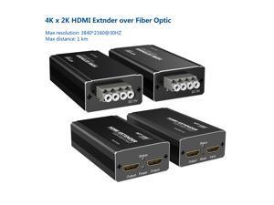 Four-core Multi-fiber multimode Up to 1km HDMI Extender over Optic Fiber 4Kx2K 1080p Video Audio Transmitter Receiver One Pair MT-ED07