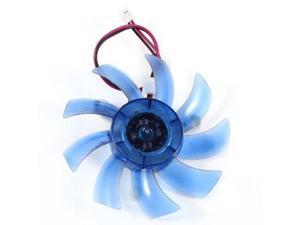 PC Computer VGA Video Card Heatsink Cooler Cooling Fan Blue 75mm 2Pin DC 12V