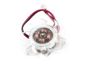 Clear Plastic 35mm 2 Pins Wired PC VGA Cooler Video Card Cooling Fan 12VDC