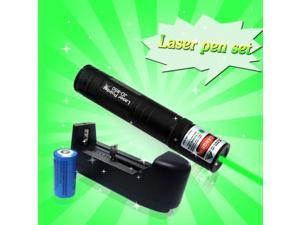Powerful Military JD-850 Green Laser Pointer Pen 5mw + Battery + Charger