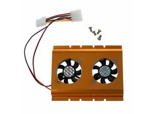 "3.5"" Hard Drive Disk HDD 4 Pin Cooling  Dual Fan Cooler Radiator PC SATA IDE"
