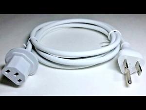 6ft 3 Prong Cable Power Cord for Apple iMac 2005-2011 A1311 A1312 A1224 A1225 622-0153 APC8 APC13G US/UK/AU/EU