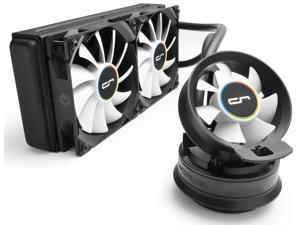 CRYORIG A40 Ultimate Hybrid Liquid Cooler 240mm x 38mm Thick Radiator with Additional Airflow Fan