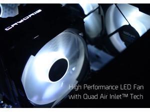 Cryorig CR-QFLC QF120 Performance White LED PWM (600-2200 RPM) Fan - 120mm