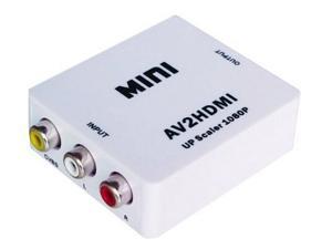 RCA AV to HDMI Converter Adapter Mini Composite CVBS to HDMI AV2HDMI Converter in Retail Package 1080P