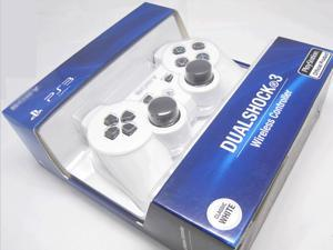 Bluetooth Wireless Dual Shock 3 Six Axis Game Controller for Sony PS3 White