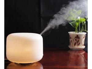 500ml Aromatherapy Diffuser Ultrasonic Aroma Air Humidifier Warm White LED Night Light LM168W