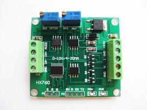 WWH-1pc HX760 load cell amplifier 4-20ma load cell transmitter 0-10v weight linear transducer