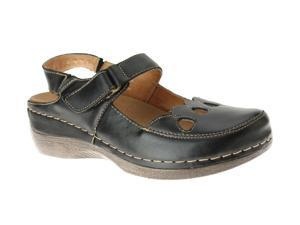 SPRING STEP Hope Black Sandals Shoes Womens Size 6
