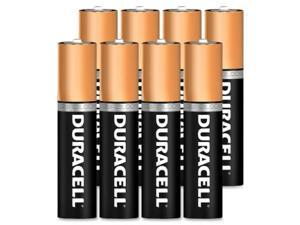 DURACELL MN2400B8Z Duracell CopperTop AAA Alkaline Battery, 8 PK, 1.5VDC