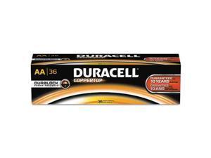 DURACELL mn15p36 Duracell CopperTop AA Alkaline Battery, 36 PK, 1.5VDC