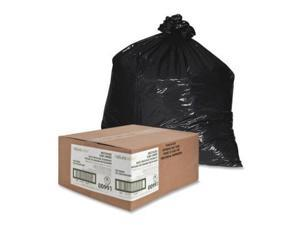"""Nature Saver Trash Can Liners Rcycld 55-60 Gal 1.25mil 38""""x58"""" 100/BX BK 00991"""
