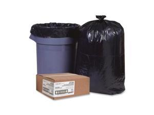 """Nature Saver Trash Can Liners Rcycld 7-10 Gal .65mil 24""""x23"""" 500/BX BK 00987"""