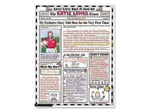 """Scholastic Instant Personal Poster Sets Extra Extra Read All About Me 17"""" x 22"""""""