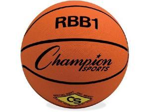 CHAMPION SPORTS RBB1 Official Size Pro Rubber Basketball, Size 7