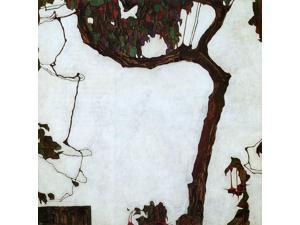 """Egon Schiele Autumn Tree with Fuchsias - 16"""" x 16"""" Premium Canvas Print"""