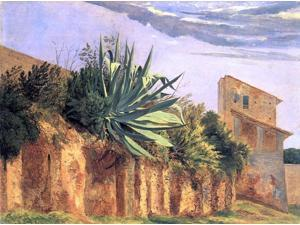 """Carl Wagner At the Wall of Rome - 18"""" x 24"""" Premium Canvas Print"""