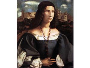 """Altobello Melone Portrait of Alda Gambara - 16"""" x 20"""" Premium Canvas Print"""
