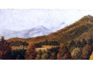 "William Aiken Walker Wooded Mountain Scene in North Carolina - 14"" x 28"" Premium Canvas Print"