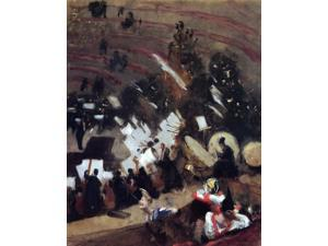 "John Singer Sargent Rehearsal of the Pas de Loup Orchestra at the Cirque d'Hiver - 16"" x 20"" Premium Canvas Print"
