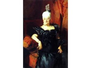 "John Singer Sargent Lady Fauden-Phillips (Helen Levy) - 16"" x 24"" Premium Canvas Print"