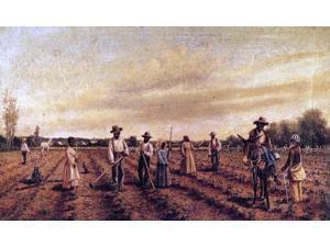 """William Aiken Walker Hoeing Cotton - 16"""" x 24"""" Premium Canvas Print"""