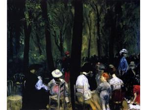 "William James Glackens Under the Trees, Luxembourg Gardens - 16"" x 20"" Premium Canvas Print"