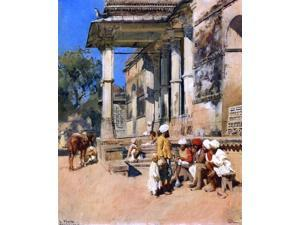 """Edwin Lord Weeks Portico of a Mosque, Ahmedabad - 16"""" x 20"""" Premium Canvas Print"""