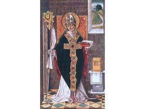 "Master of Budapest Holy Bishop - 16"" x 24"" Premium Canvas Print"
