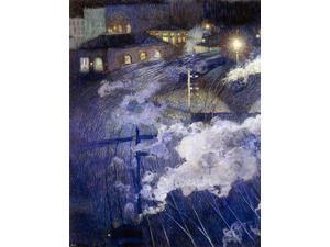 "Henri Ottmann The Luxembourg Station, Brussels - 18"" x 24"" Premium Canvas Print"