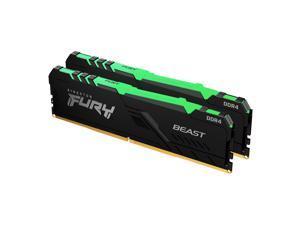 Kingston FURY Beast RGB 16GB (2 x 8GB) DDR4 3600MHz Dual Memory Kit KF436C17BBAK2/16