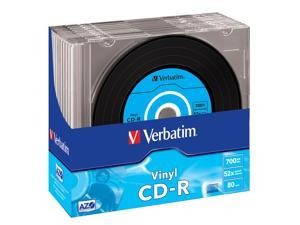 Verbatim 52X CD-R AZO Data 700MB 10-Pack Slim Jewel Case Box