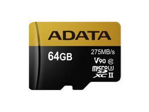 64GB ADATA Premier ONE MicroSDXC UHS-II U3 Class10 275MB/s Memory Card