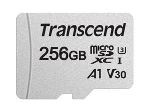 Transcend 256GB 300S microSDXC CL10 V30 A1 Memory Card with SD Adapter