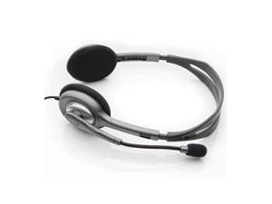 Logitech H111 Binaural Stereo Headset - Grey