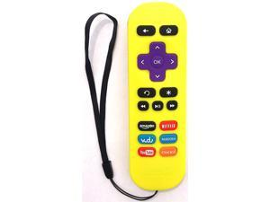 Amaz247 ARCBZ01 Replacement Remote for Roku Streaming player (Roku 1/2/3, HD/LT/XS/XD); DO NOT Support Roku Stick or Roku TV; Yellow
