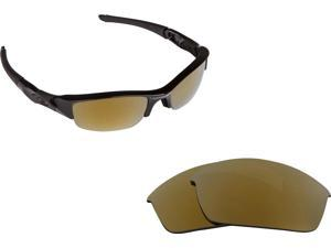 eafb1c7a812 FLAK JACKET Replacement Lenses Polarized Gold by SEEK fits OAKLEY Sunglasses
