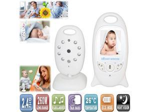 Wireless 2.4Ghz Portable Baby Monitor 2 inch Color LCD Night vision Video Record Audio Two-Way talk Temperature monitoring 260m distance