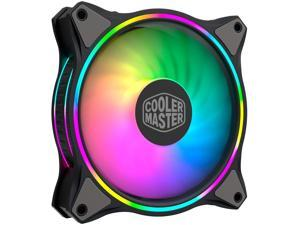 Cooler Master MasterFan MF120 Halo Duo-Ring Addressable RGB Lighting 120mm Fan, Absorbing Rubber Pads, PWM Static Pressure for 5V 3-Pin ARGB,NOT Work with 4-pin RGB or Standard RGB+12V