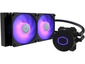 CoolerMaster MasterLiquid ML240L RGB V2, Close-Loop AIO CPU Liquid Cooler, 3rd Gen Dual Chamber Pump, 240 Radiator, Dual SickleFlow 120mm for AMD Ryzen/Intel 1151